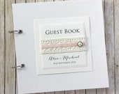 Wedding Guest Book - Personalized - Lace