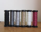 Grayscale Metallic Embroidery Thread - Set of 6 Colors from Sublime Stitching