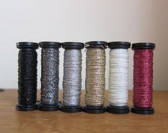 Metallic Embroidery Thread | Sublime Stitching Embroidery Floss for Hand Embroidery, Cross Stitch - Grayscale Metallic Thread Set
