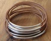 Leather bracelet Bahia Del Sol - color brown camel