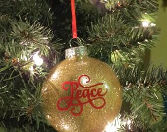 Peace Glass Christmas ornament