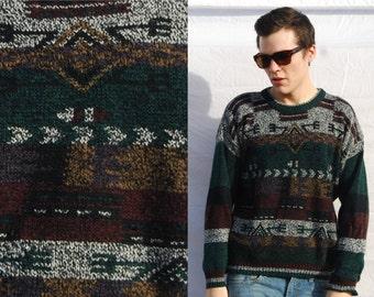 GEONATIVE Funky Knit Striped Sweater