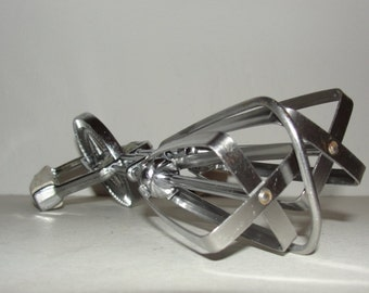 Manyard Manual Beater Stainless Steel and Putty White