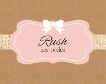 RUSH ORDER - Please do not purchase this until checking with the seller to see if I am accepting rush orders at this time.