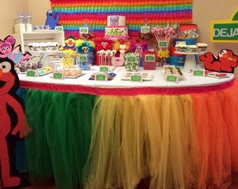 Tutu Table Skirt, Custom Made, Wedding, Birthday, Baby Shower