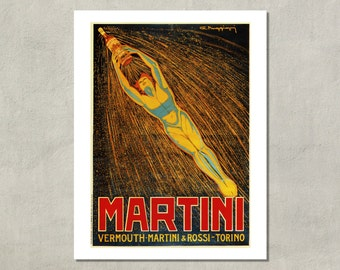 Martini Vermouth Retro Advertising Print - 8.5 x 11 Print -  also available in 11x14 and 13x19 - see listing details