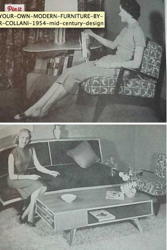1954 Build Your Own MODERN FURNITURE Book Arthur Collani Mid Century Modern  Design Make