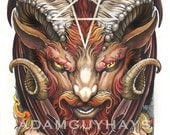 ON SALE The Devil Art Print