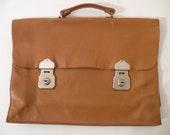 Vintage Brown Leather Portfolio