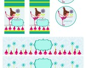 Yoga Party Kit, DIY Yoga party, instant download Yoga Party Kit, digital file, Yoga Printable