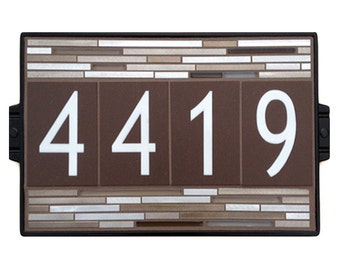 Earth Aluminum House Number Sign