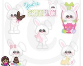2015 You're Eggstra Sweet  Easter Bunny Clip art  Clipart Graphics  Commercial Use