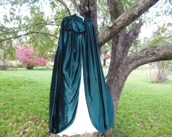 Hooded Velvet Cape for Winter Weddings Holiday Parties