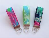 Lilly Pulitzer Fabric Key Fob Wristlet - Choose One