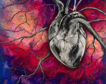"""Heart, 12""""x12"""" Signed Fine Art Print, Home Decor with a story"""