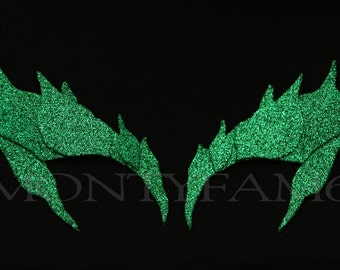 Poison Ivy Leaves Eyebrow Eye mask GLITTER GREEN Cosplay Comic Con Fairy