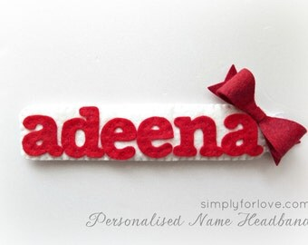Customised/Personalized Name headband for babies and toddlers. Great for baby shower gifts