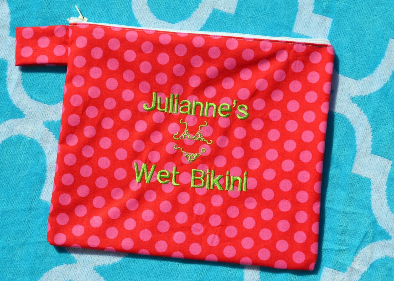 personalized wet bikini bag wet bathing suit bag bikini