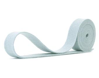 "100 Percent Wool Felt Ribbon in color SILVER -  3/4"" X 2 Yards - Gray Ribbon - Silver RIbbon"
