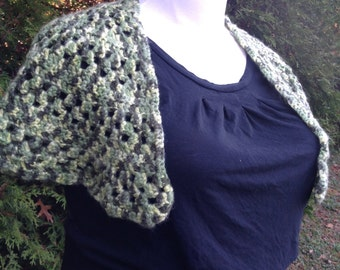 """Hand Crocheted Shawl - """"Forest's Embrace"""""""