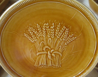 Vintage Franciscan Wheat California Pottery bread dessert plates Very Good, 8 available