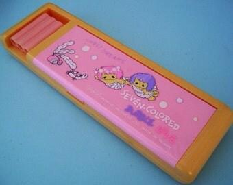 Pink Mermaid Pencil Box Soundy Pencil Case Sweet Dreams Bubble Love 1980s Kawaii School Supplies