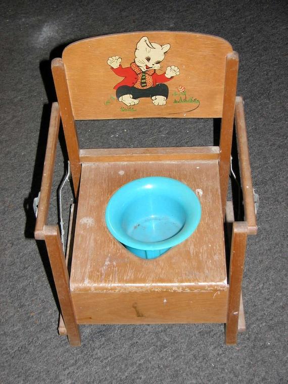 Antique Potty Chair 1950s Vintage Antique Child 39 S Wooden - Vintage Wooden Potty Chair Potty Chairs For Adults. Vintage
