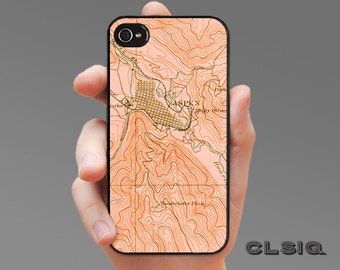 Vintage Aspen Map iPhone Case for iPhone 6, iPhone 5/5s, or iPhone 4/4s, Samsung Galaxy S6, Galaxy S5, Galaxy S4, Galaxy S3