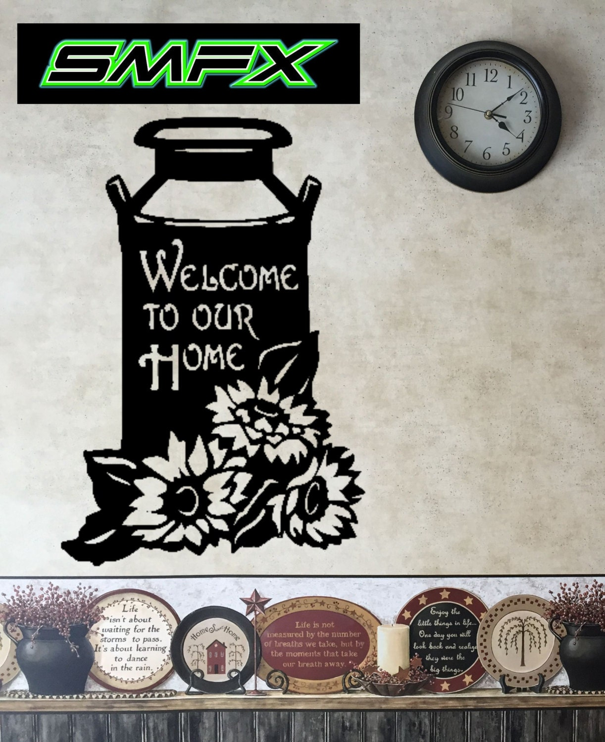 Welcome To Our Home: Welcome To Our Home Milk Jug