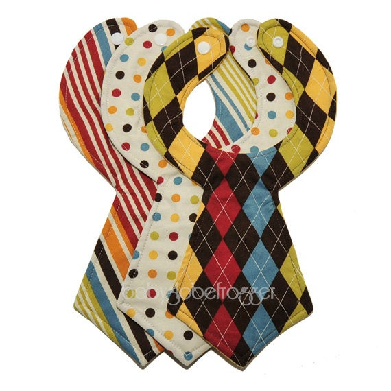 Designer Baby Necktie Bibs (Set of 3)