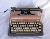 PRICE REDUCED Vintage Royal Typewriter Pink and Slate Two Toned Manual Office Machine