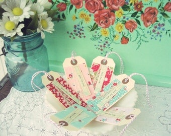 "vintagey ""just for you"" gift tags no. 2- set of 6"