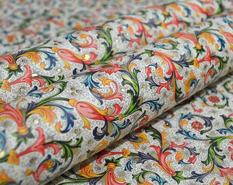 Rossi Traditional Florentine Paper - Flowers, Leaves and Scrolls