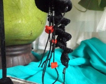 OLD STYLE Crochet Lace Jellyfish Black