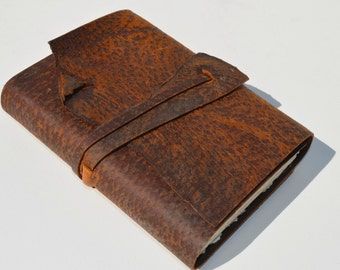 Handmade Distressed Leather Lined Page Journal Adventure Notebook Custom Order (380C)