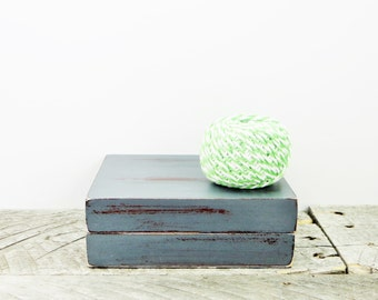 Grey Jewelry Box - Modern Shabby Chic - For Him or Her - Gift for Dad