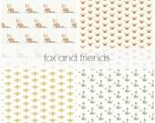 Fox and Friends Nursery Bedding, Gender Neutral Crib Bedding Set, Customizable Bedding Set