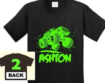 Monster Truck Birthday Shirt, Monster truck shirt, Monster truck Birthday, Monster truck Party, Monster trucks, Truck birthday shirt