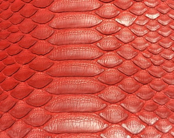 Leather iPhone 6 case Exotic Python Skin (Matte Lipstick Red)