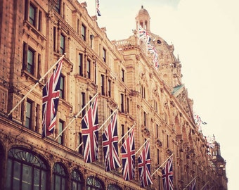 Harrods, London photograph, fine art, travel photography, 8x8, England, vintage, European decor, square London photo