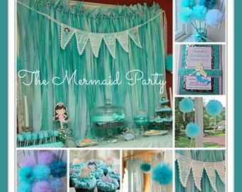 Party Kit Party In A Box, Mermaid or Under The Sea Party Decorations