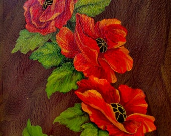 "Poppy Flower Art - ""Fifty Shades of Red"""