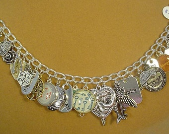 "Charm Bracelet ""The Happy LIfe"" - 8-1/2"" - B020"