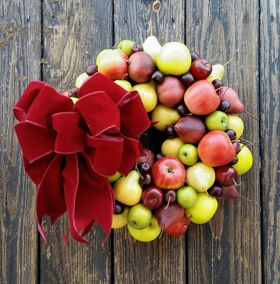 Fruit Wreath, Mixed Fruit Christmas Wreath