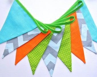 shabby fabric garland, banners, bunting,, guirlande de fanions, children room decoration, photo props