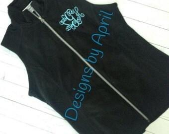 Monogrammed Fleece Vest for Women- Perfect for Christmas