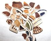 beach pottery sea pottery beach craft supplies sea jewelry supply (331)