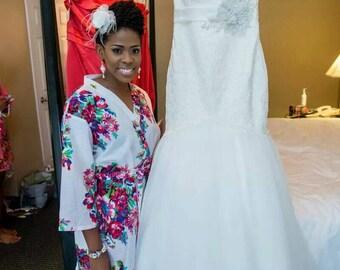8 BOHO Weddings Robes set for bride and Bridesmaid, Kimono Robe, Perfect bridesmaids Gift, Bath Robes, Getting ready robe