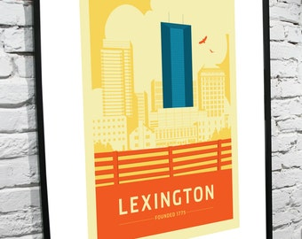 Lexington, Kentucky Skyline 11x17 Poster