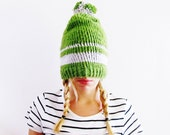 Knitting PATTERN-The Urban Stripy Knit Beanie Pattern-Knitting Beanie Pattern
